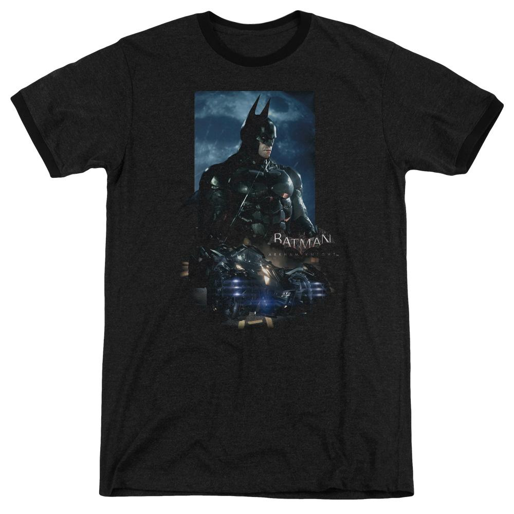 Batman Arkham Knight Batmobile Adult Heather Ringer Black