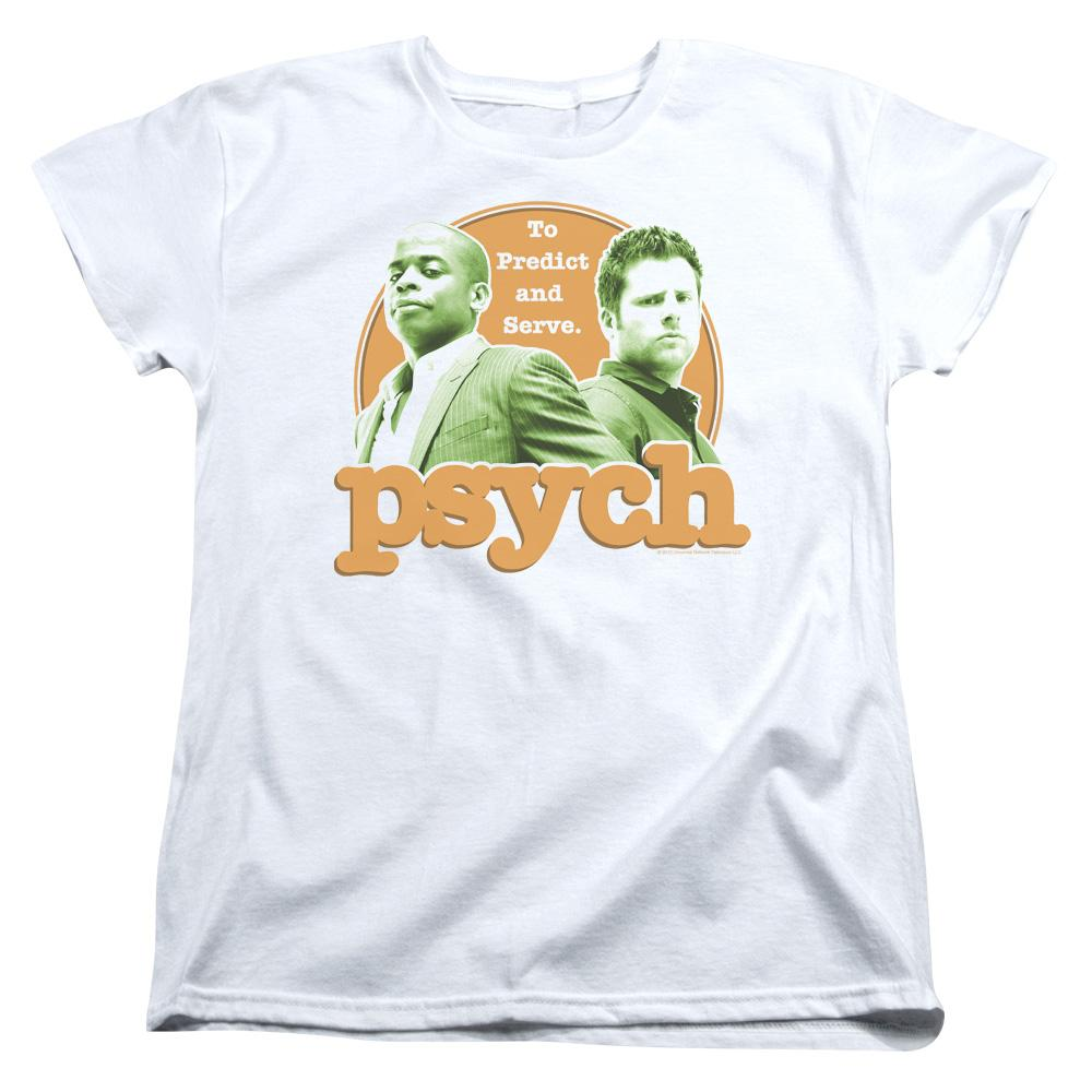 Psych Predictable Short Sleeve Women's Tee White T-Shirt