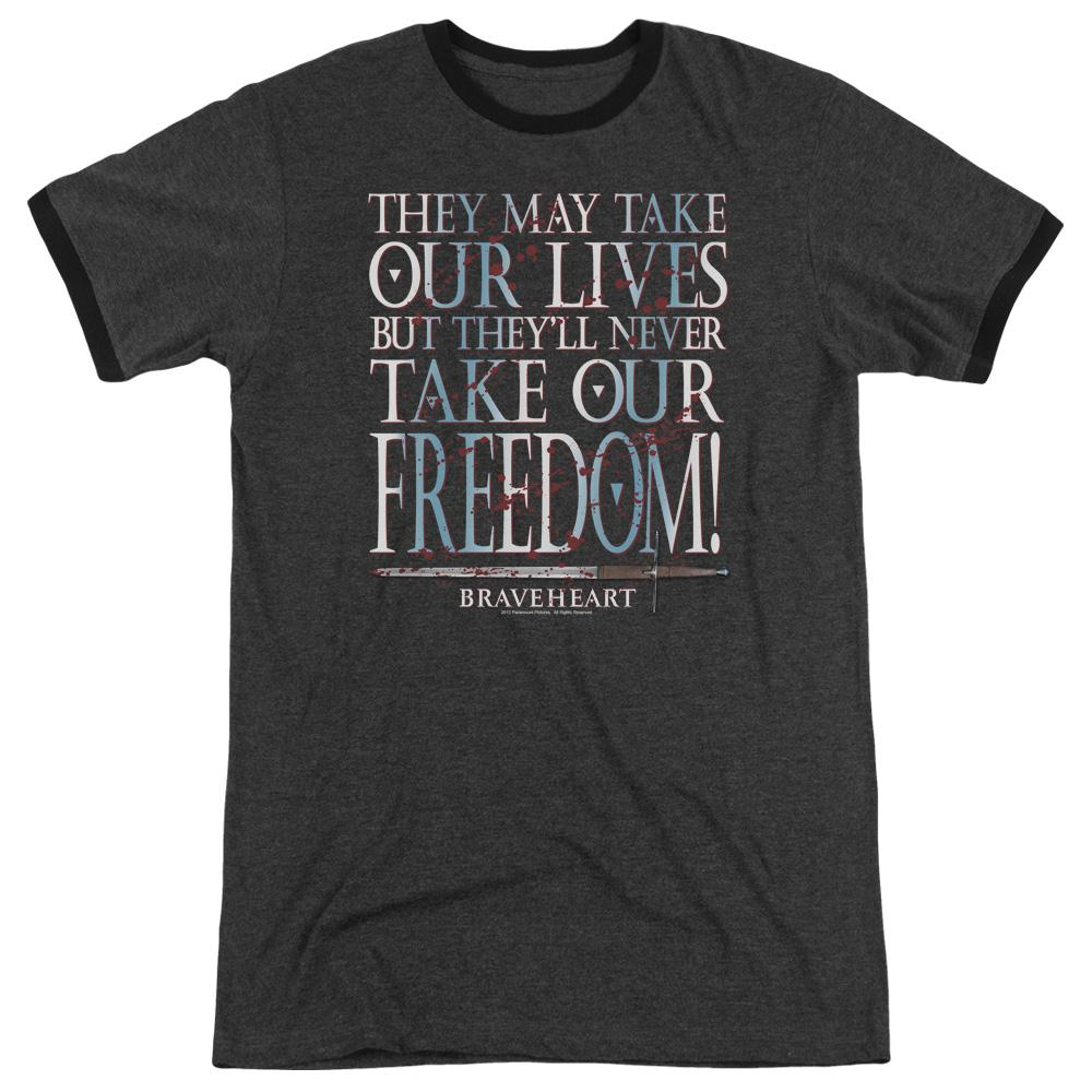 Braveheart Freedom Adult Heather Ringer Charcoal