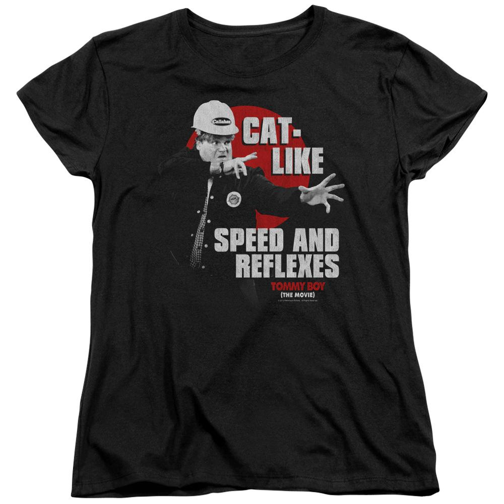 Tommy Boy Cat Like Short Sleeve Women's Tee Black T-Shirt