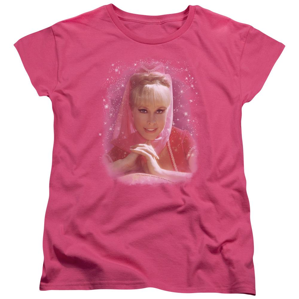 I Dream Of Jeannie Sparkle Short Sleeve Women's Tee Hot Pink T-Shirt